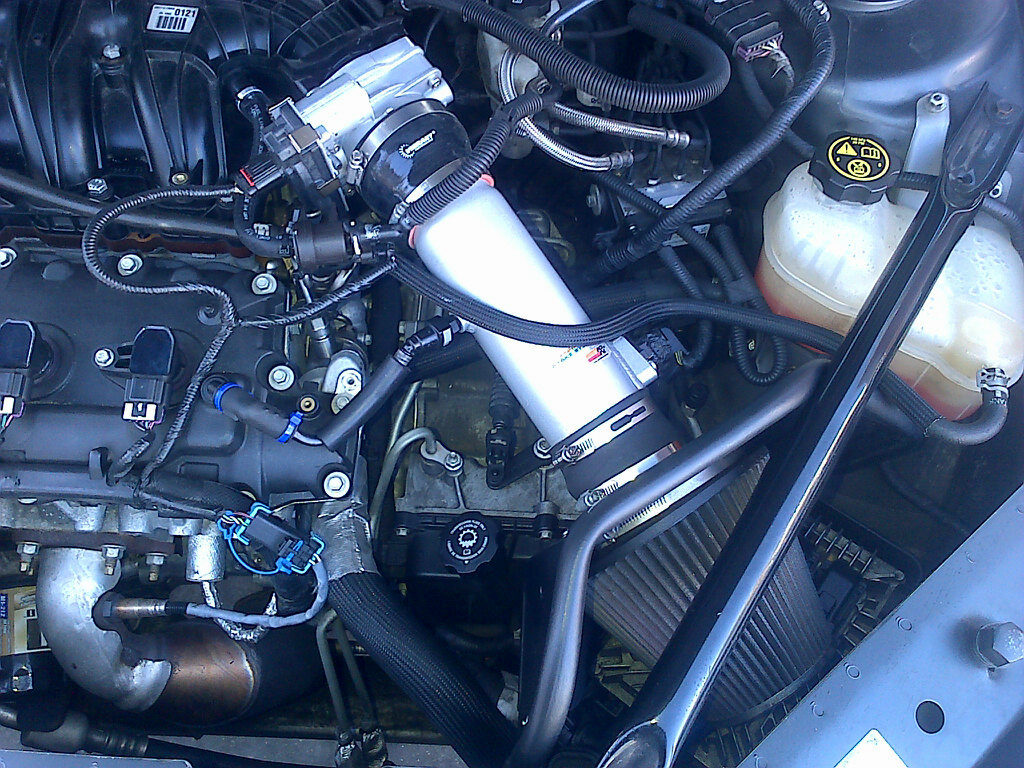 80mm Overkill TB w/ K&N Typhoon Cold Air Intake System