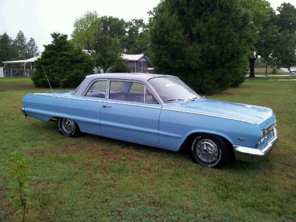 "14"" impala ss hubcaps,rims and newtires-1963-belair.jpg"