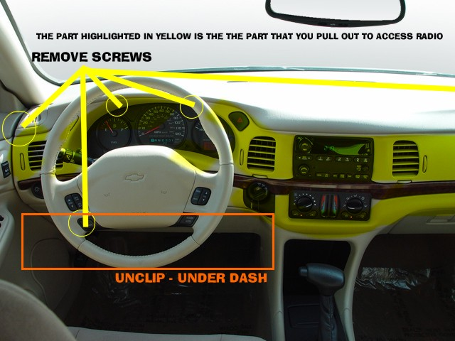 How Do You Replace 2004 Chevy Impala Factory Stereo With A Aftermarket Stereo Impala Forums