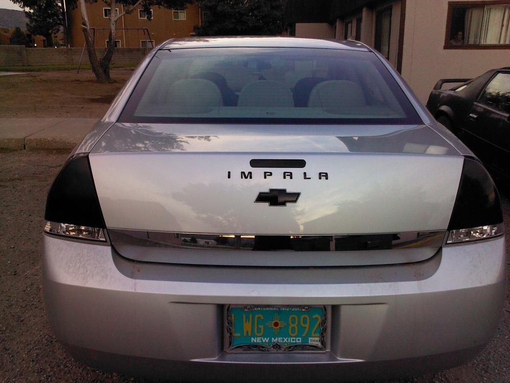 Blackout Badges Impala Lettering Tail Lights Imp Jpg