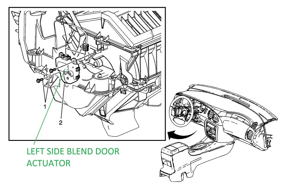blend door actuator failure - page 2