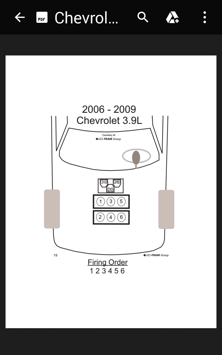 2008 Impala 3 9 Engine Firing Order Impala Forums
